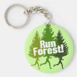 Corra el bosque, proteja el Día de la Tierra Llavero