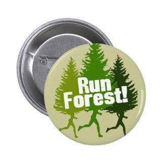 Corra el bosque, proteja el Día de la Tierra Pin Redondo 5 Cm