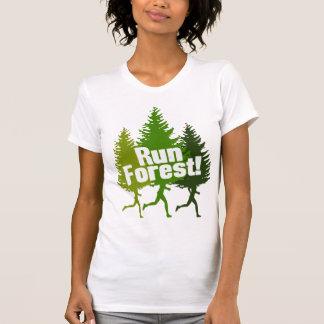 Corra el bosque proteja el Día de la Tierra Camisetas
