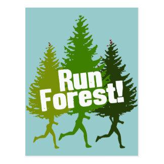 Corra el bosque, proteja el Día de la Tierra Postal