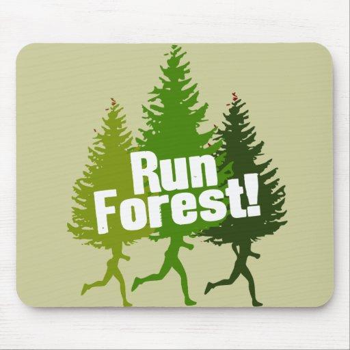 Corra el bosque, proteja el Día de la Tierra Alfombrilla De Ratón