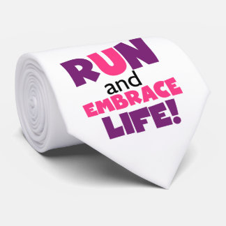 Corra el rosa púrpura de la vida del abrazo corbata