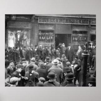 Corra en el banco 1912 poster