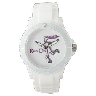 """""""Corra en"""" el reloj"""