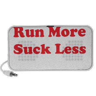Corra más chupan menos rojo mini altavoces