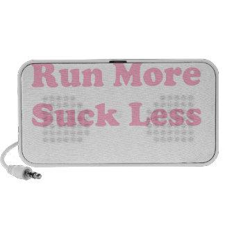 Corra más chupan menos rosa iPhone altavoces