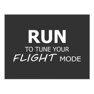 Corra para adaptar su postal del modo del vuelo