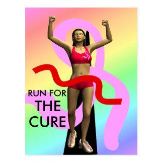 Corra para la postal de la conciencia del cáncer d