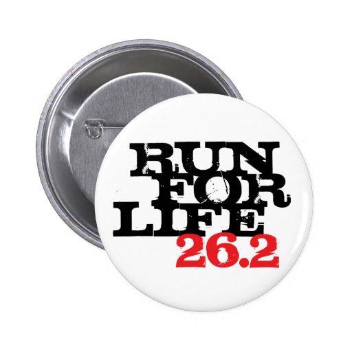 Corra para la vida 26,2 pin redondo 5 cm