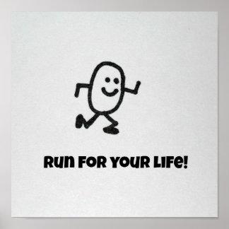 Corra para su vida… póster