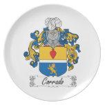 Corrado Family Crest Party Plates
