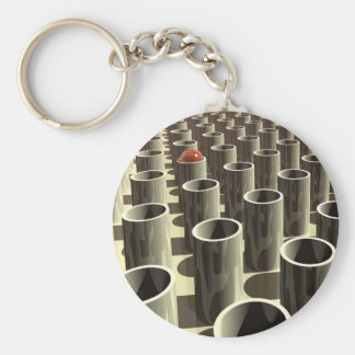 Corral de cilindros llavero redondo tipo pin