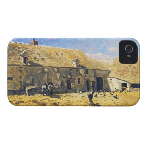 Corral en Chailly - Claude Monet iPhone 4 Carcasas