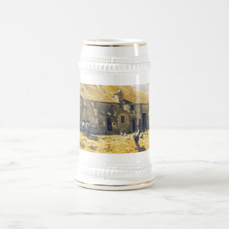 Corral en Chailly - Claude Monet Jarra De Cerveza