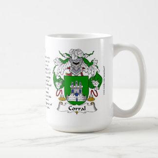 Corral Family Coat of Arms Coffee Mug