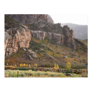 corral in Unaweep Canyon Postcard