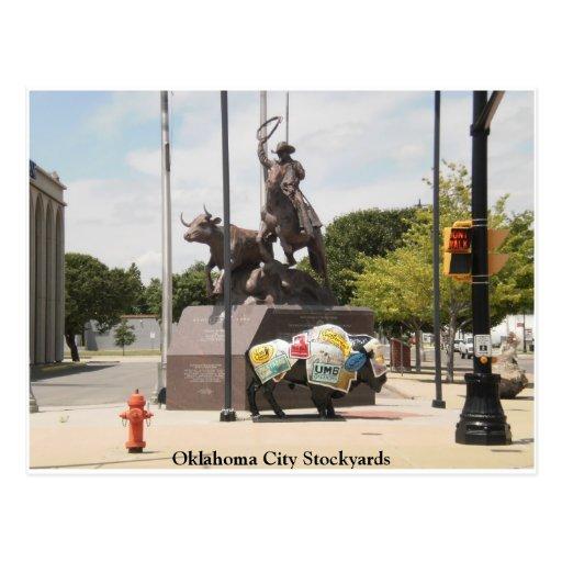 Corrales búfalo y vaquero del Oklahoma City Postales