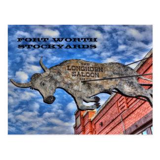 Corrales de Fort Worth: El salón del fonolocalizad Tarjetas Postales