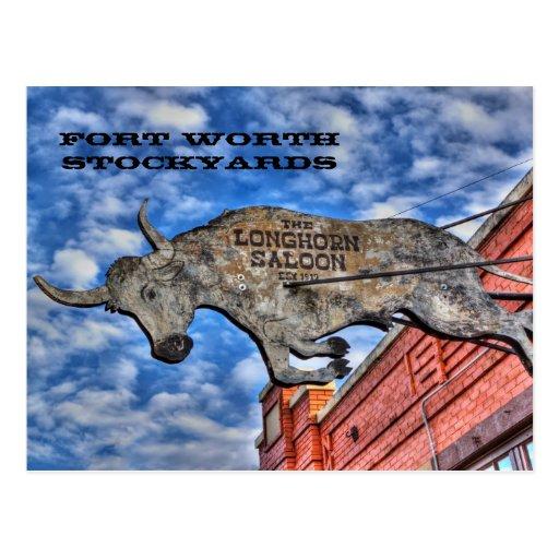 Corrales de Fort Worth: El salón del fonolocalizad Postal