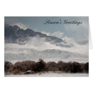 Corrales Snow Greeting Card