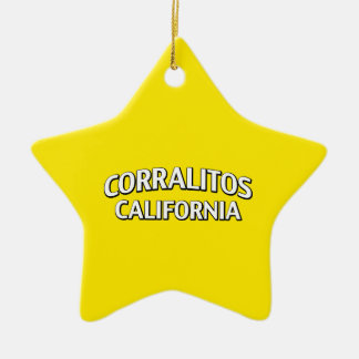 Corralitos California Adorno Navideño De Cerámica En Forma De Estrella