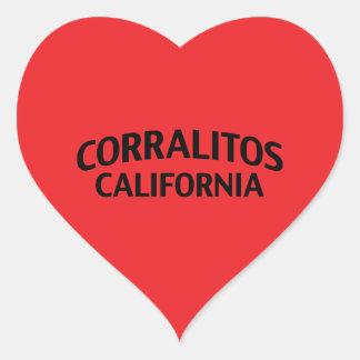 Corralitos California Pegatina En Forma De Corazón