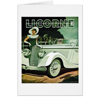 Corre-La Licorne - anuncio del vintage Felicitación