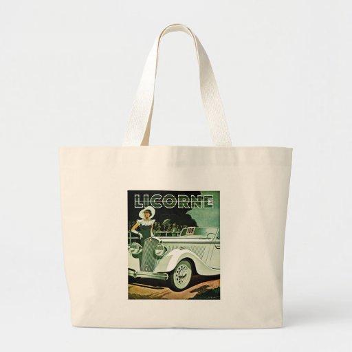 Corre-La Licorne - Vintage Advertisement Canvas Bag