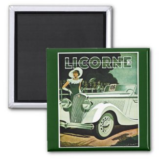Corre-La Licorne - Vintage Advertisement magnet