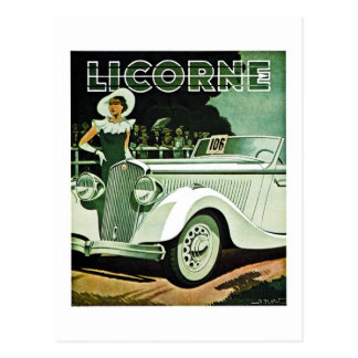 Corre-La Licorne - Vintage Advertisement Postcard