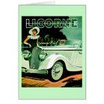 Corre La Licorne ~ Vintage Automobile Ad Greeting Card