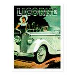 Corre La Licorne ~ Vintage Automobile Ad Postcard