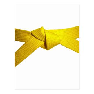 Correa amarilla tarjeta postal