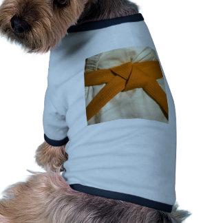 Correa anaranjada camisa de mascota