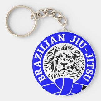 Correa azul de Jiu-Jitsu del brasilen@o (llavero) Llavero Redondo Tipo Pin