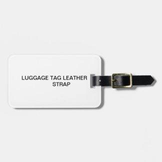 Correa de cuero de la etiqueta del equipaje etiquetas para equipaje