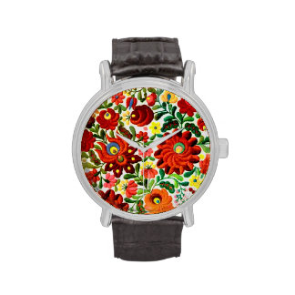 Correa de cuero del vintage con la correa de cuero relojes de pulsera