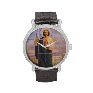 Correa de cuero del vintage con la correa de cuero relojes de mano