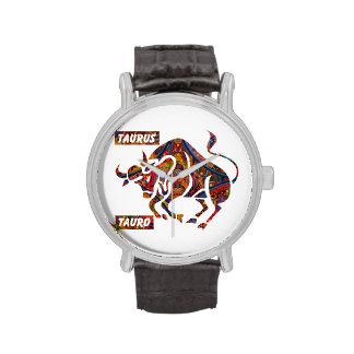 Correa de cuero del vintage con la correa de cuero reloj
