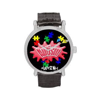 correa de cuero del vintage del autismo 4MySon Reloj De Mano