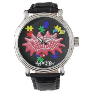 correa de cuero del vintage del autismo 4MySon Relojes