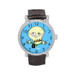 Correa de cuero del vintage del zombi reloj