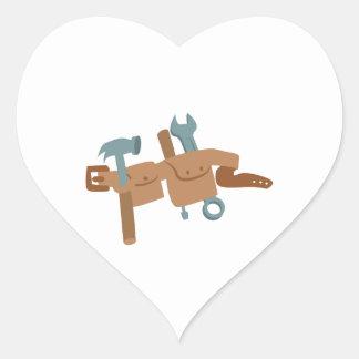 Correa de la herramienta pegatina en forma de corazón