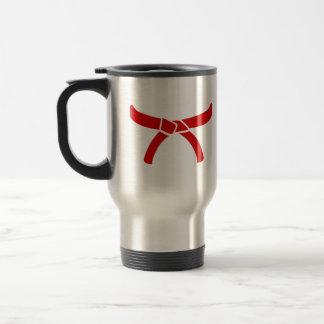 Correa de los artes marciales del karate tazas de café