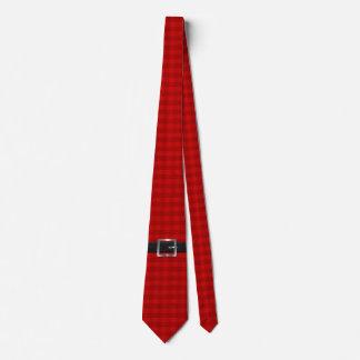 Correa de Santa en control rojo Corbata Personalizada