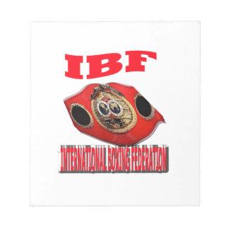 Correa del boxeo del campeonato de IBF Libreta Para Notas