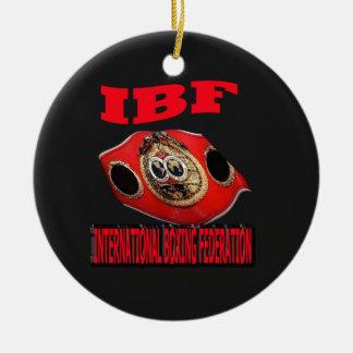 Correa del boxeo del campeonato de IBF con el fond Ornato