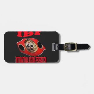 Correa del boxeo del campeonato de IBF con el fond Etiquetas De Equipaje