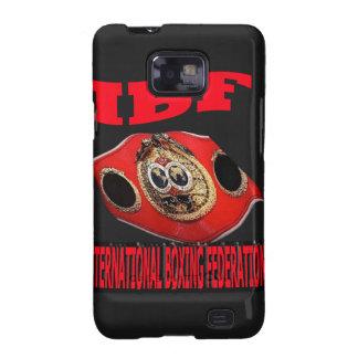 Correa del boxeo del campeonato de IBF con el fond Samsung Galaxy SII Carcasas
