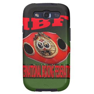 Correa del boxeo del campeonato de IBF con el fond Galaxy S3 Carcasas